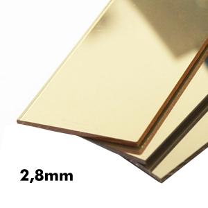 2,8mm Altın Ayna Pleksi Levhalar