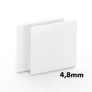 4,8mm Beyaz Pleksi Dökme Levhalar