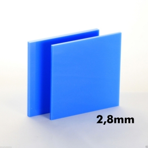 2,8mm Boncuk Mavi Pleksi Dökme Levhalar