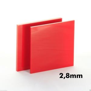 2,8mm Kırmızı Pleksi Dökme Levhalar