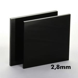 2,8mm Siyah Pleksi Dökme Levhalar