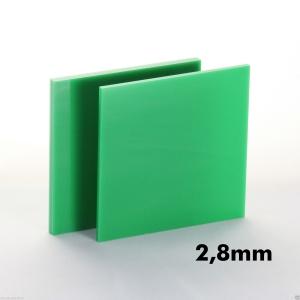 2,8mm Yeşil Pleksi Dökme Levhalar