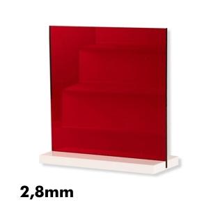 2,8mm Kırmızı Ayna Pleksi Levhalar
