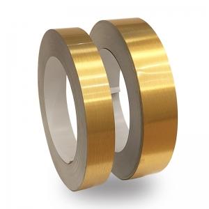 Altın Satine Alüminyum Şerit Rulo 0,60mm 100metre  6cm ve 8cm