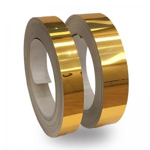 Altın Parlak Alüminyum Şerit Rulo 0,60mm 100metre  6cm ve 8cm